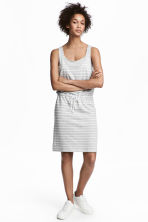 MAMA Nursing dress - Light grey/Striped - Ladies | H&M CN 1