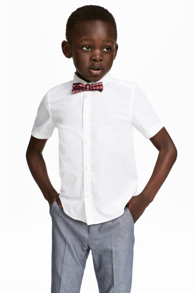 Short-sleeve shirt and bow tie - White - Kids | H&M 1