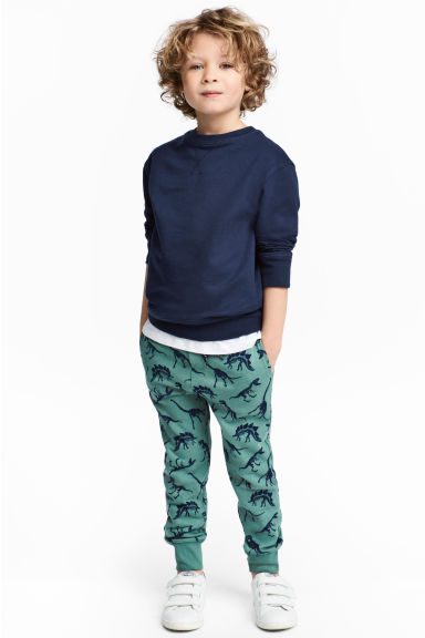 Joggers - Turquoise/Dinosaur -  | H&M 1