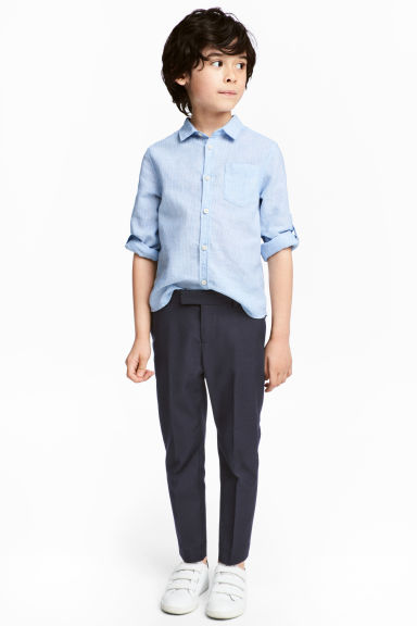 Pantaloni da completo - Blu scuro -  | H&M IT