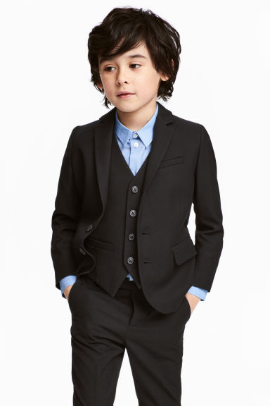 Two-button jacket - Black - Kids | H&M 1