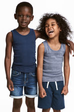 2-pack vest tops - Dark blue -  | H&M 1