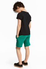 Sweatshirt shorts - Petrol green - Kids | H&M 1