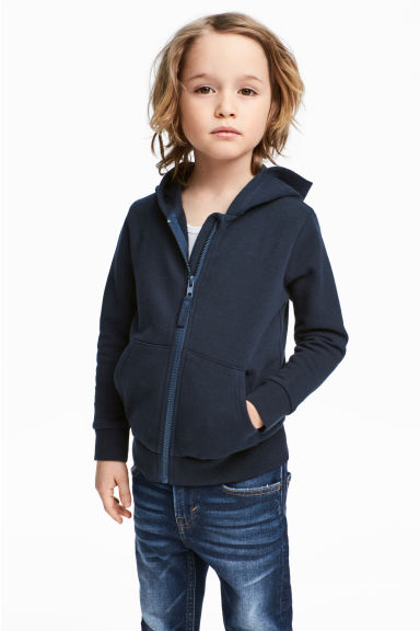 Hooded jacket - Dark blue -  | H&M 1