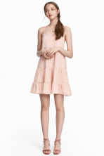 Dress with hemstitching - Powder pink - Ladies | H&M CN 1