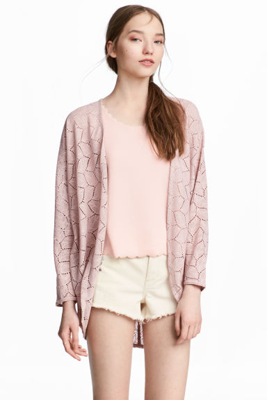 Lace cardigan - Dusky pink - Ladies | H&M GB