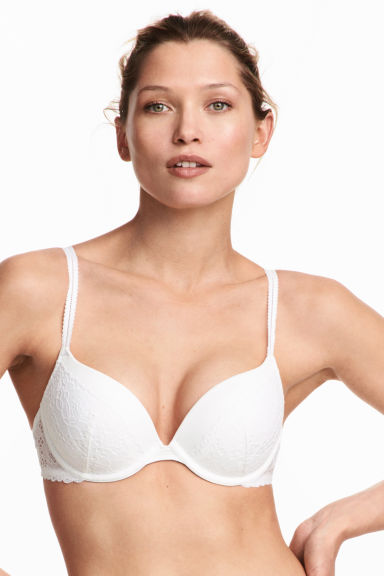 Lace super push-up bra - White - Ladies | H&M CN 1