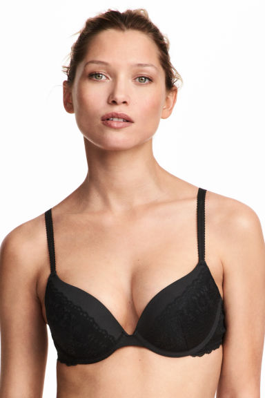 Lace super push-up bra - Black - Ladies | H&M CN 1