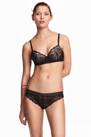 Brazilian in pizzo - Nero - DONNA | H&M IT 1