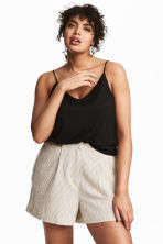 H&M+ Shorts a righine - Bianco naturale/righe - DONNA | H&M IT 1