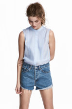 Sleeveless blouse - Light blue - Ladies | H&M 1