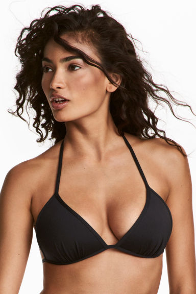 Push-up triangle bikini top - Black - Ladies | H&M 1