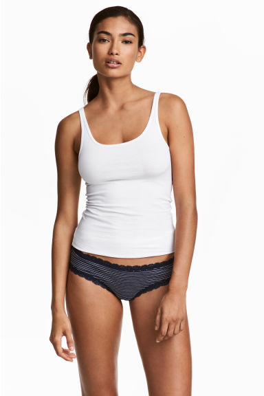 3-pack briefs - Dark blue/Striped - Ladies | H&M 1