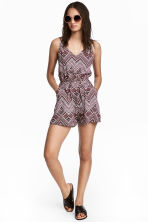 Playsuit - Light pink/Patterned - Ladies | H&M 1