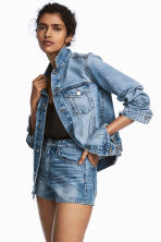 Denim jacket - Light denim blue - Ladies | H&M CN 1