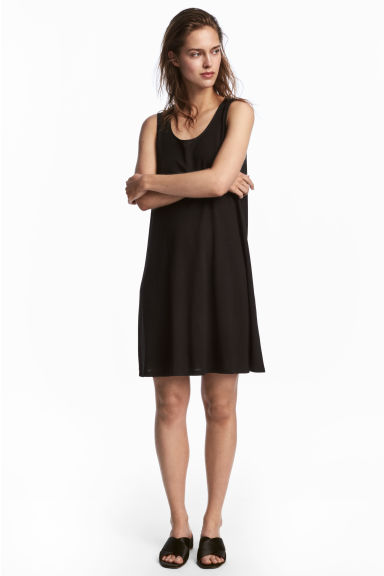 A-line jersey dress - Black - Ladies | H&M 1