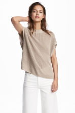 Knitted top - Light beige - Ladies | H&M IE 1