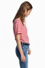 Striped jersey top - Red/White - Ladies | H&M 1