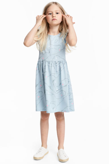 Jersey dress - Light dusky blue - Kids | H&M