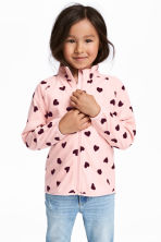 Fleece jacket - Light pink/Heart - Kids | H&M CA 1