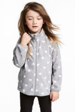 Fleece jacket - Grey heart - Kids | H&M CN 1