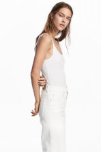 Jersey vest top - White - Ladies | H&M CA 1