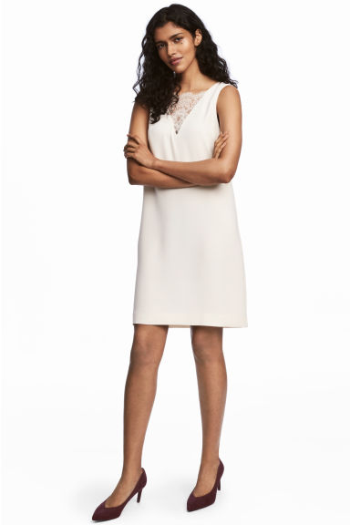 Short dress - Natural white - Ladies | H&M
