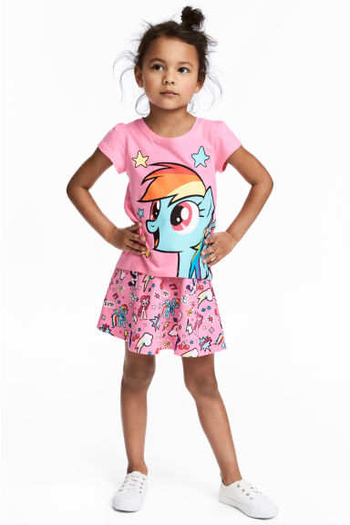 滑板裙 - Pink/My Little Pony - Kids | H&M 1