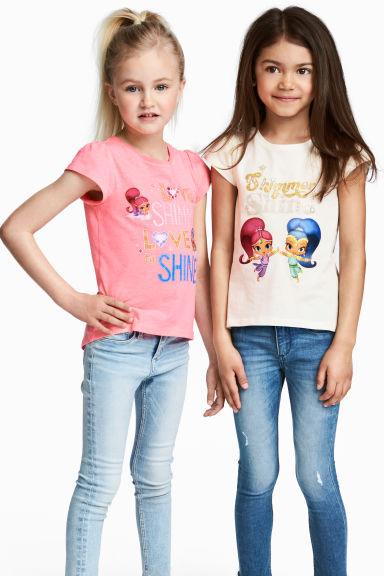2-pack jersey tops - Pink/Shimmer and Shine -  | H&M 1