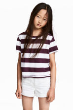 Jersey top - Plum/Striped -  | H&M CN 1