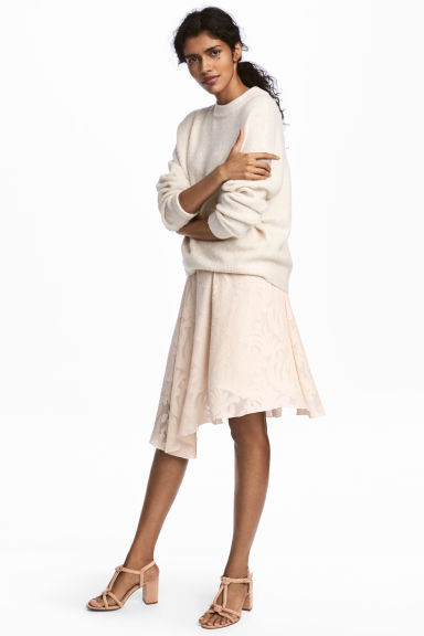 Silk-blend skirt - Powder -  | H&M CN 1