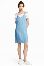 Lyocell denim dress - Light denim blue - Ladies | H&M 1