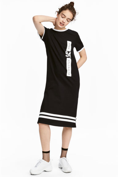 T-shirt dress - Black - Ladies | H&M CN 1