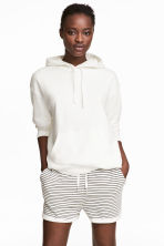 Sweatshirt shorts - White/Striped - Ladies | H&M CN 1
