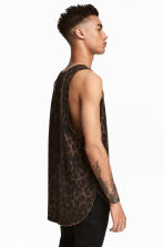 Bleach-patterned vest top - Brown/Leopard print - Men | H&M 1