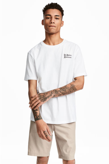 Printed T-shirt - White/Los Angeles - Men | H&M CN