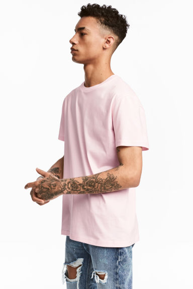 圓領T恤 - Light pink - Men | H&M 1