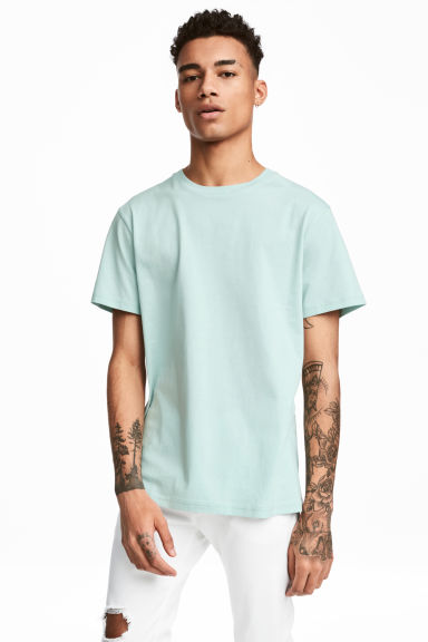 Round-necked T-shirt - Mint green - Men | H&M CN 1