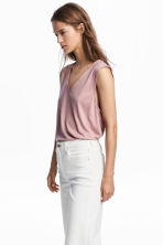 Lyocell top - Pink - Ladies | H&M 1