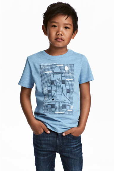 Printed T-shirt - Blue/Rocket - Kids | H&M 1