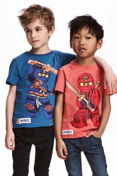 2-pack T-shirts - Blue/Lego - Kids | H&M 1