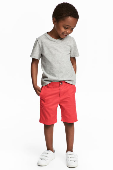 卡其短褲 - Light red - Kids | H&M 1