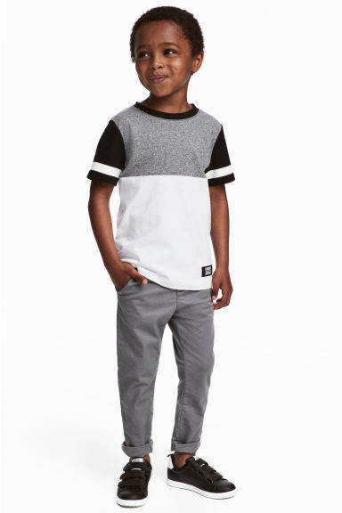 Slim fit Chinos - Grey - Kids | H&M