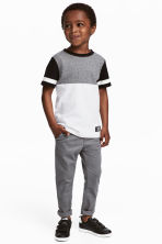 撞色T恤 - White/Grey/Black - Kids | H&M 1