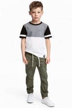 Cotton pull-on trousers - Khaki green - Kids | H&M 1