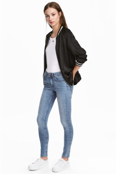 Super Skinny Regular Jeans - 淡牛仔蓝 - Ladies | H&M CN 1