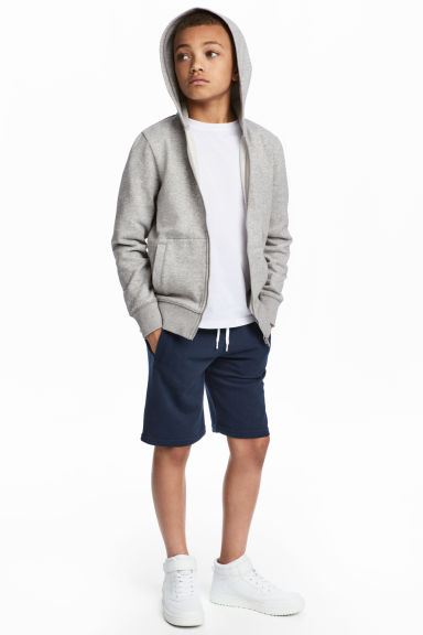 Sweatshirt shorts - Dark blue -  | H&M 1