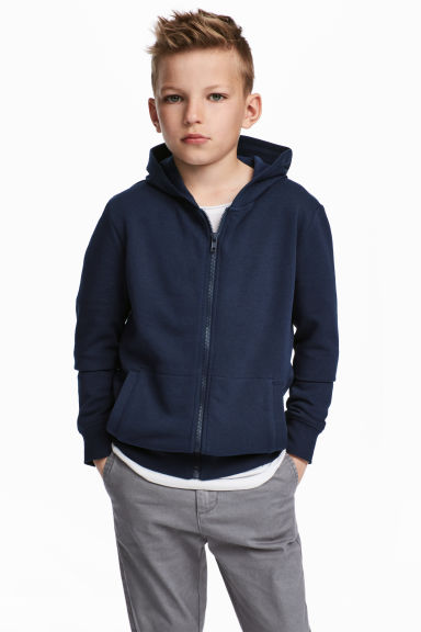 Hooded jacket - Dark blue - Kids | H&M 1