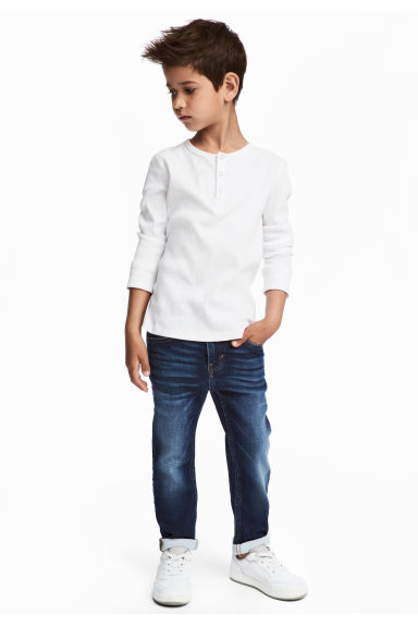Super Soft Slim Fit Jeans - Koyu kot mavisi - Kids | H&M TR 1