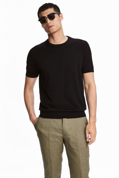 Fine-knit silk-blend T-shirt Model